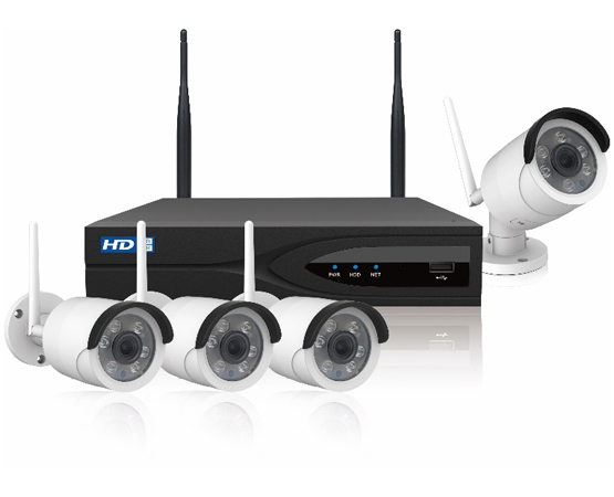 4 Channel 2.0 MP HD Real-time H.265 WIFI Network Kit