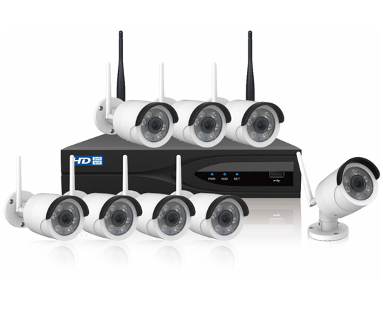 8 Channel 2.0 MP HD Real-time H.265 WIFI Network Kit